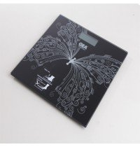 GEA BATHROOM SCALE DIGITAL BLACK BUTTERFLY
