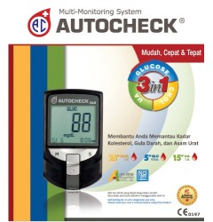 Autocheck Multi Monitoring System 3 in 1 Meter